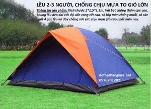 Lều trại 2 người 2 lớp cực bền, lều đôi tại Hà Nội, HCM
